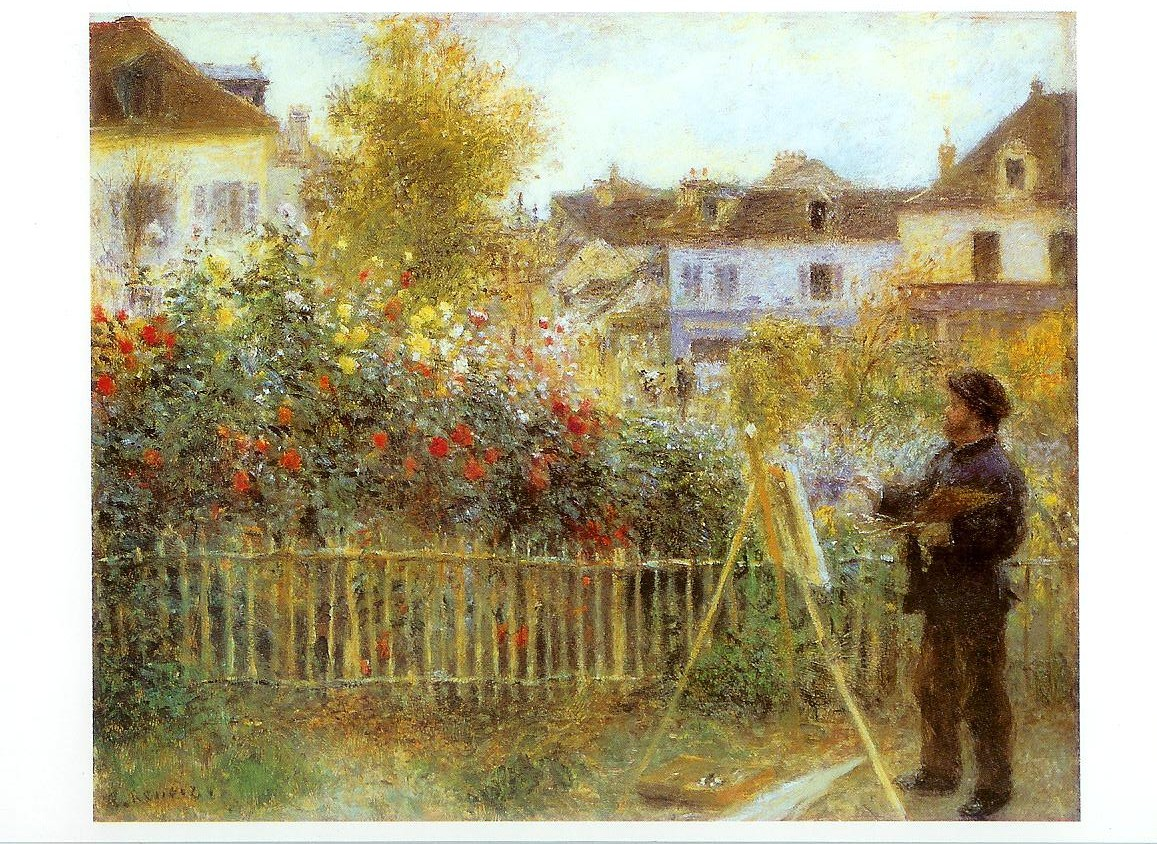 Art Card – Monet Painting in His Argenteuil Garden | Remembering ...