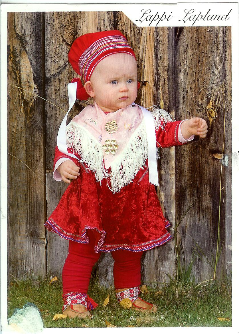 traditional dress in lapland  finland