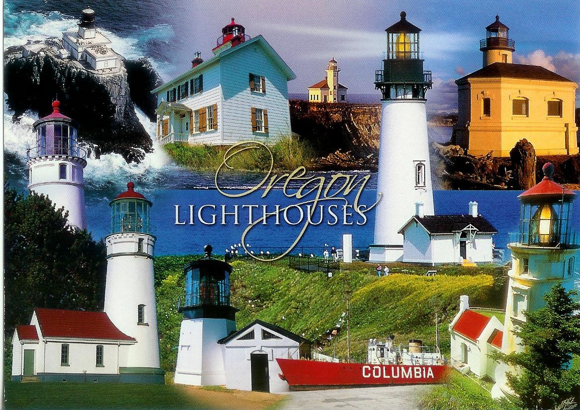 Lighthouses In Oregon Map.Lighthouses In Oregon Remembering Letters And Postcards