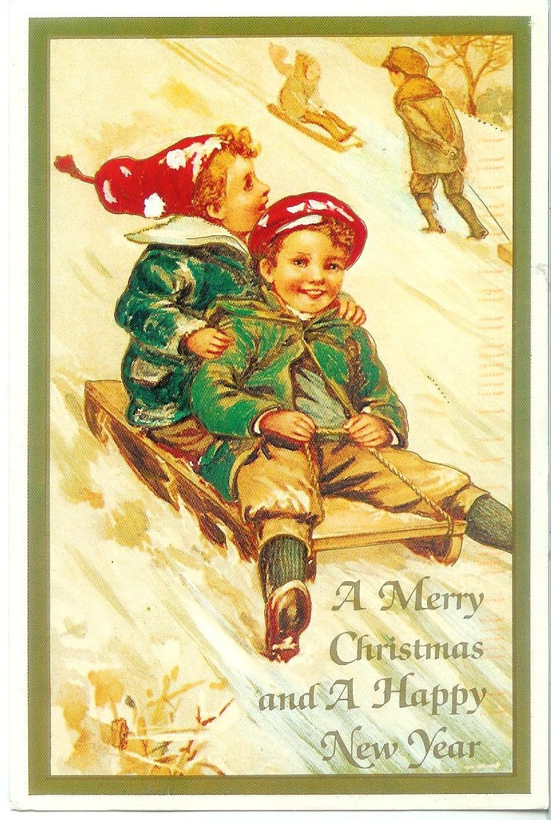 A Merry Christmas and A Happy New Year   Remembering ... Vintage New Years Images