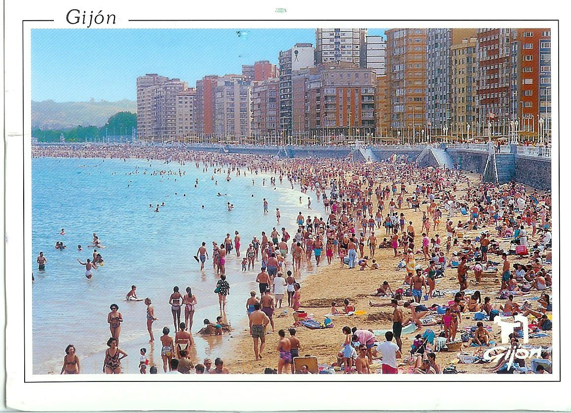 Gijon Spain  City pictures : Gijon Beach ~ Spain | Remembering Letters and Postcards