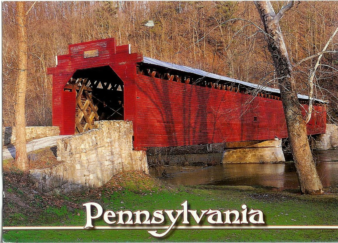Greencastle (PA) United States  city images : Martin's Mill Covered Bridge | Remembering Letters and Postcards