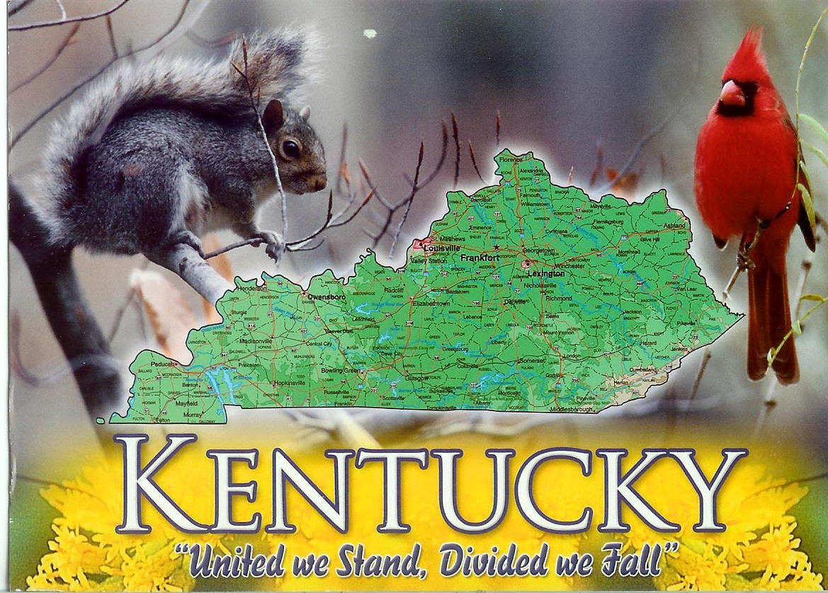 USA  Kentucky Remembering Letters And Postcards - Kentucky on a map of usa