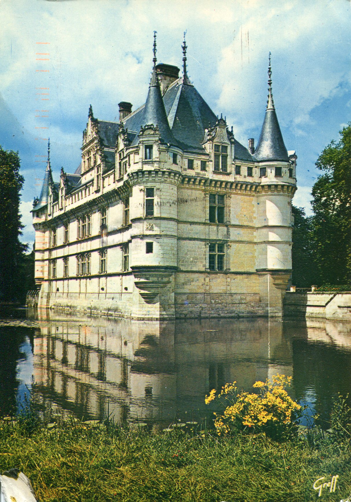 chateau azay le rideau remembering letters and postcards. Black Bedroom Furniture Sets. Home Design Ideas