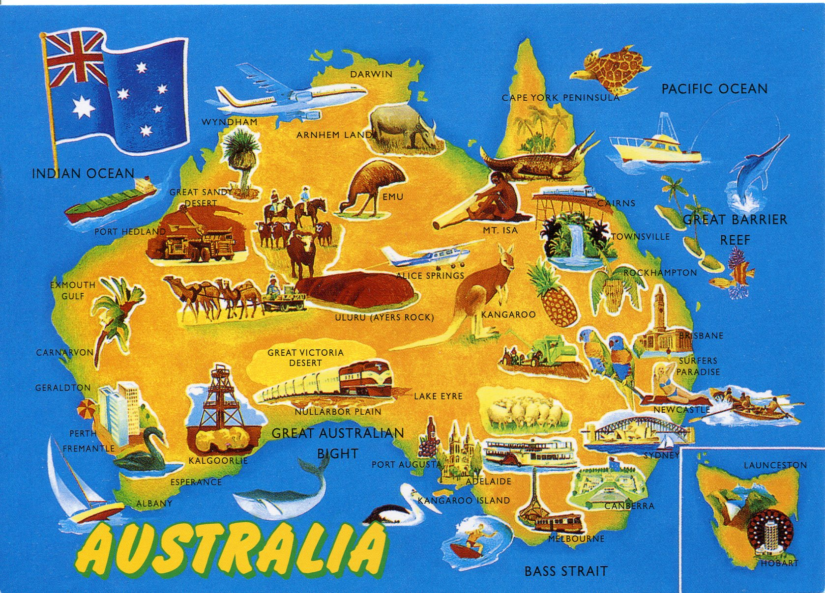 map of australia remembering letters and postcards