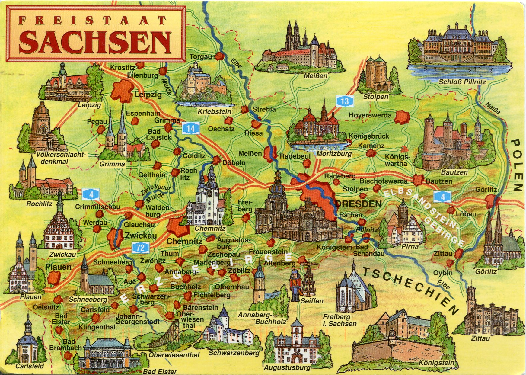 Map of saxony germany