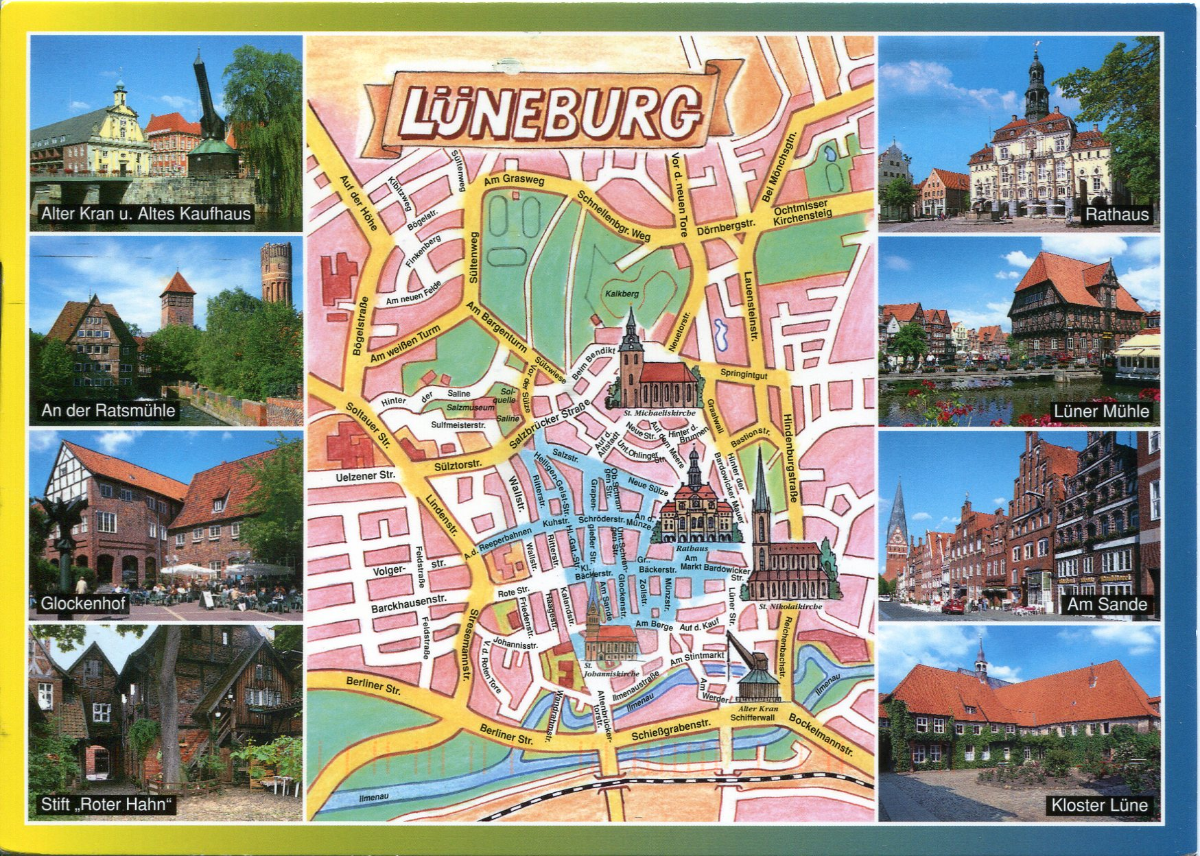 Germany Remembering Letters And Postcards Page - Luneburg germany map