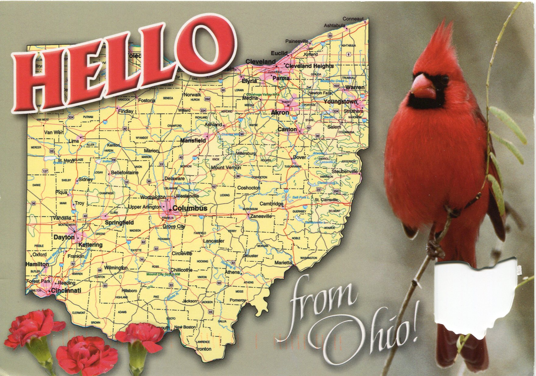 Ohio Map Remembering Letters And Postcards Map Usa Ohio