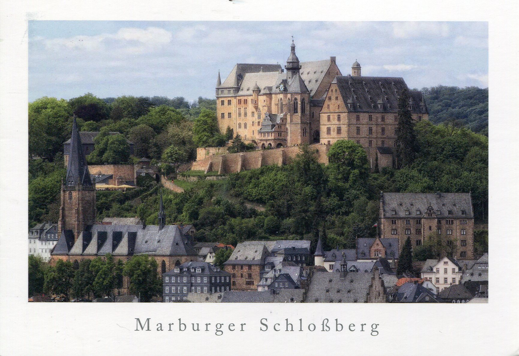Marburg Castle Remembering Letters And Postcards