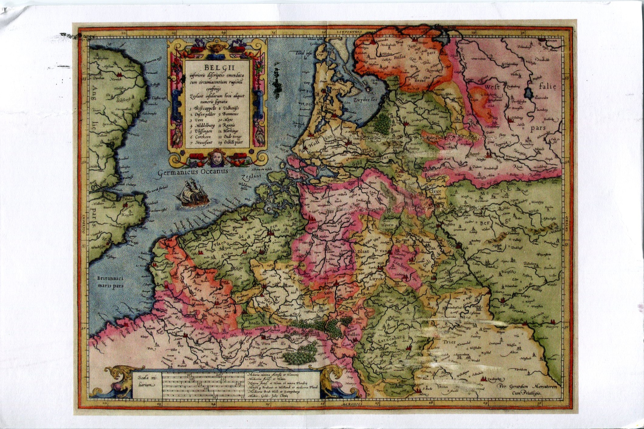 Historic Map of the Netherlands and Belgium  Remembering Letters