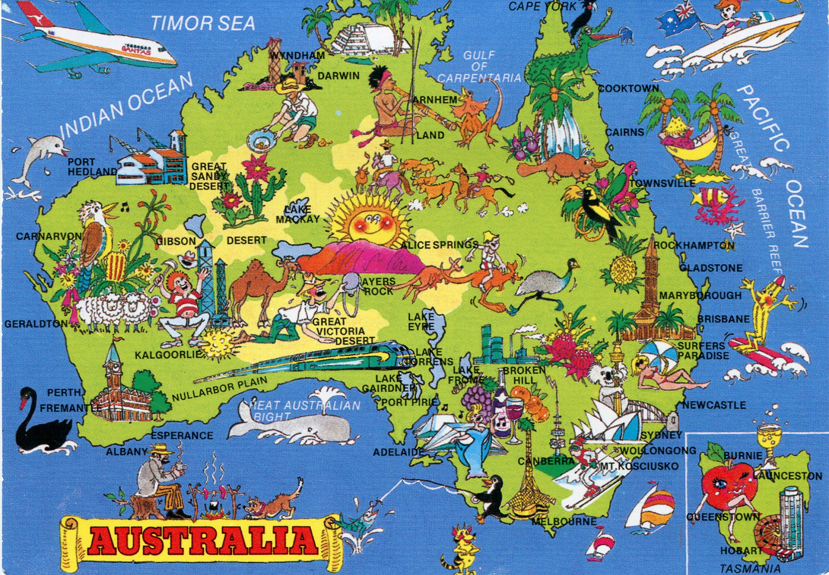 Mapping Australia Whats Your Favourite Place Lessons TES Teach – Australia Tourist Attractions Map