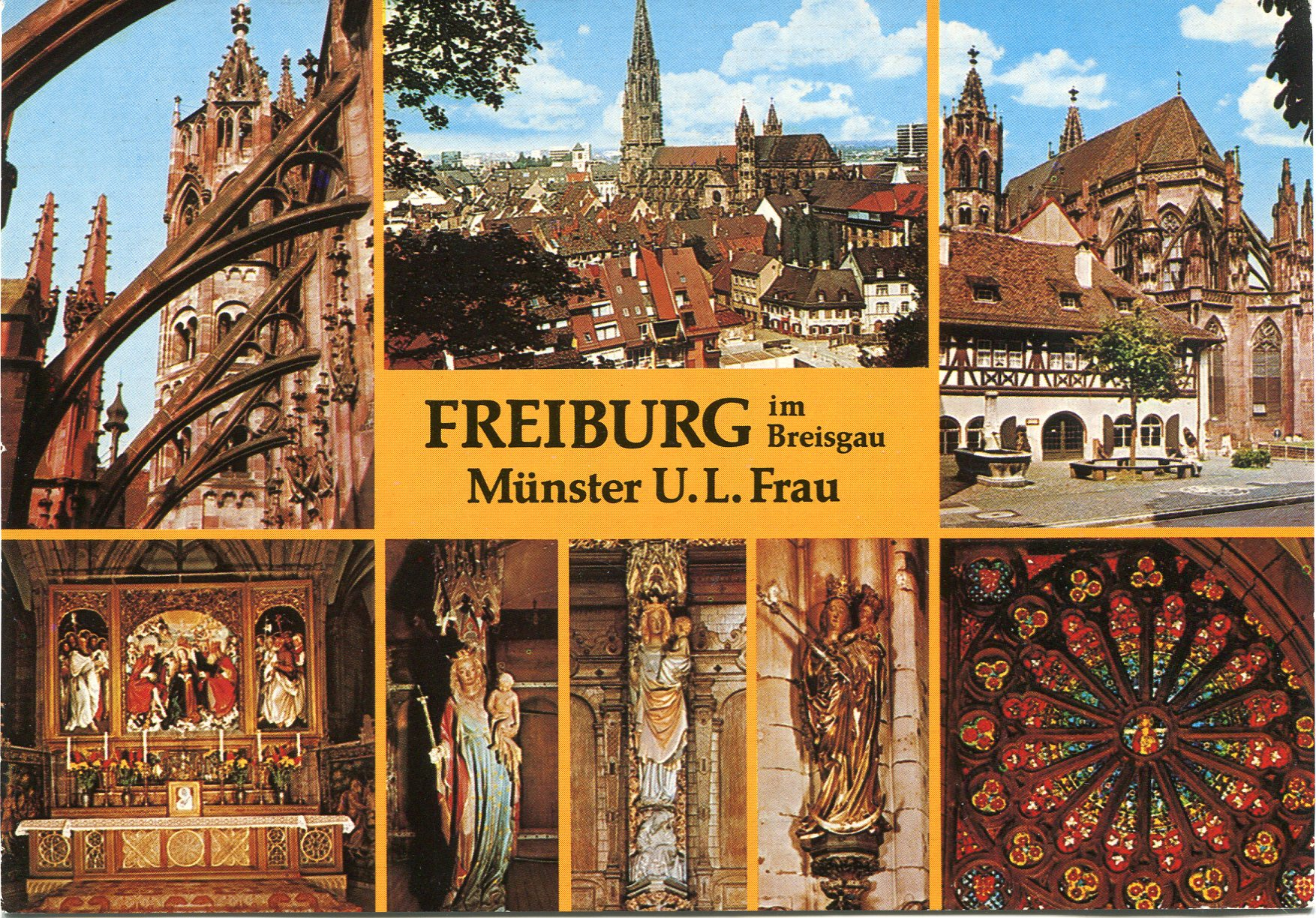 church in freiburg im breisgau remembering letters and postcards. Black Bedroom Furniture Sets. Home Design Ideas