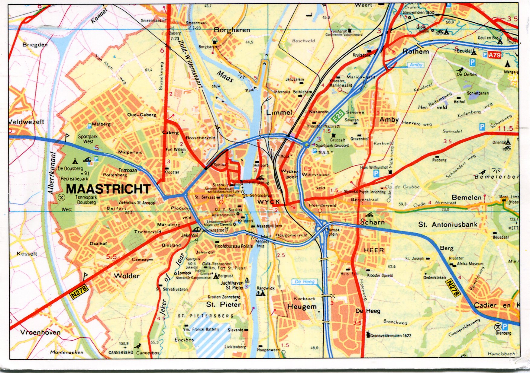 Maastricht Netherlands Map Remembering Letters and Postcards
