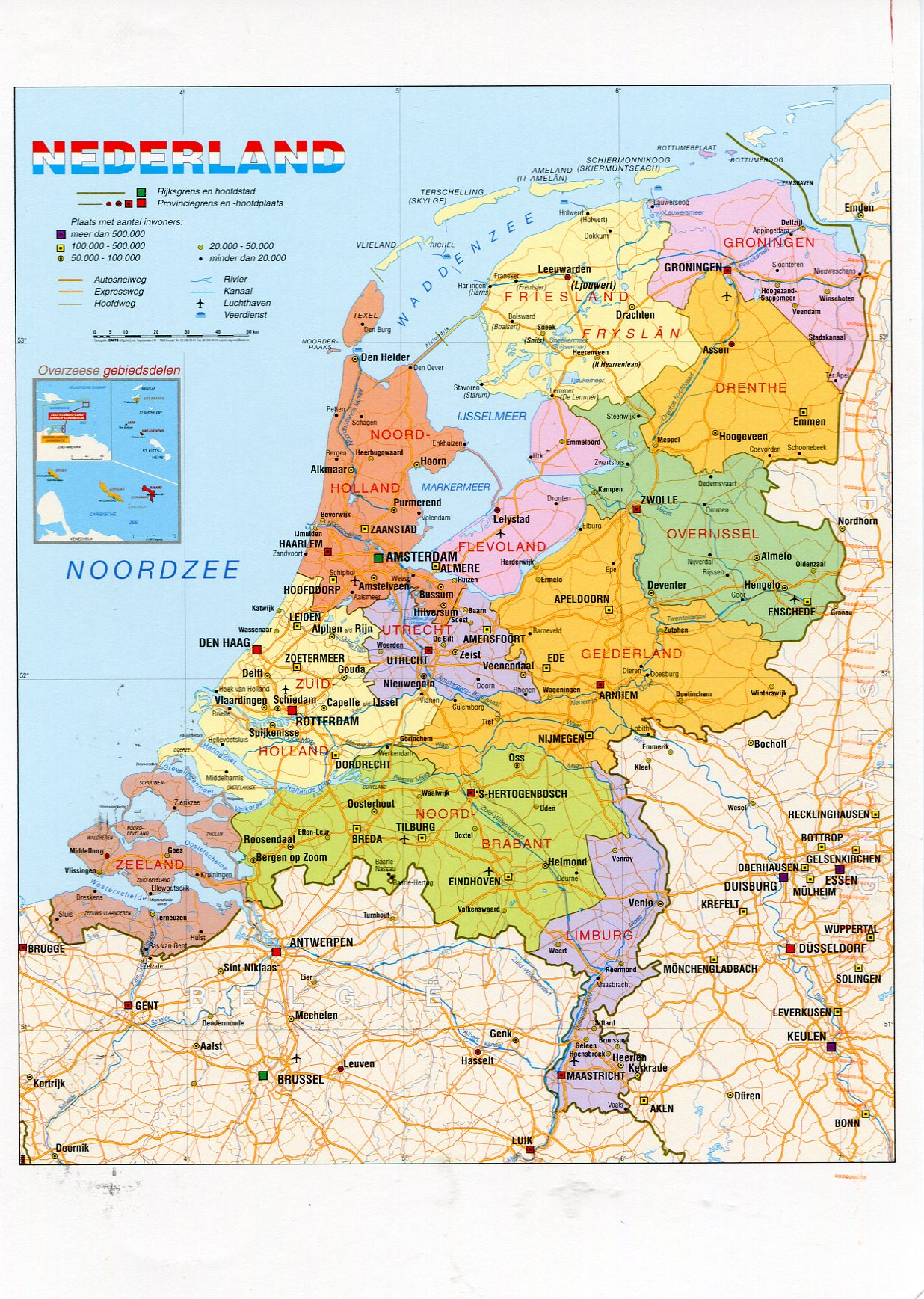 Map of the Netherlands | Remembering Letters and Postcards