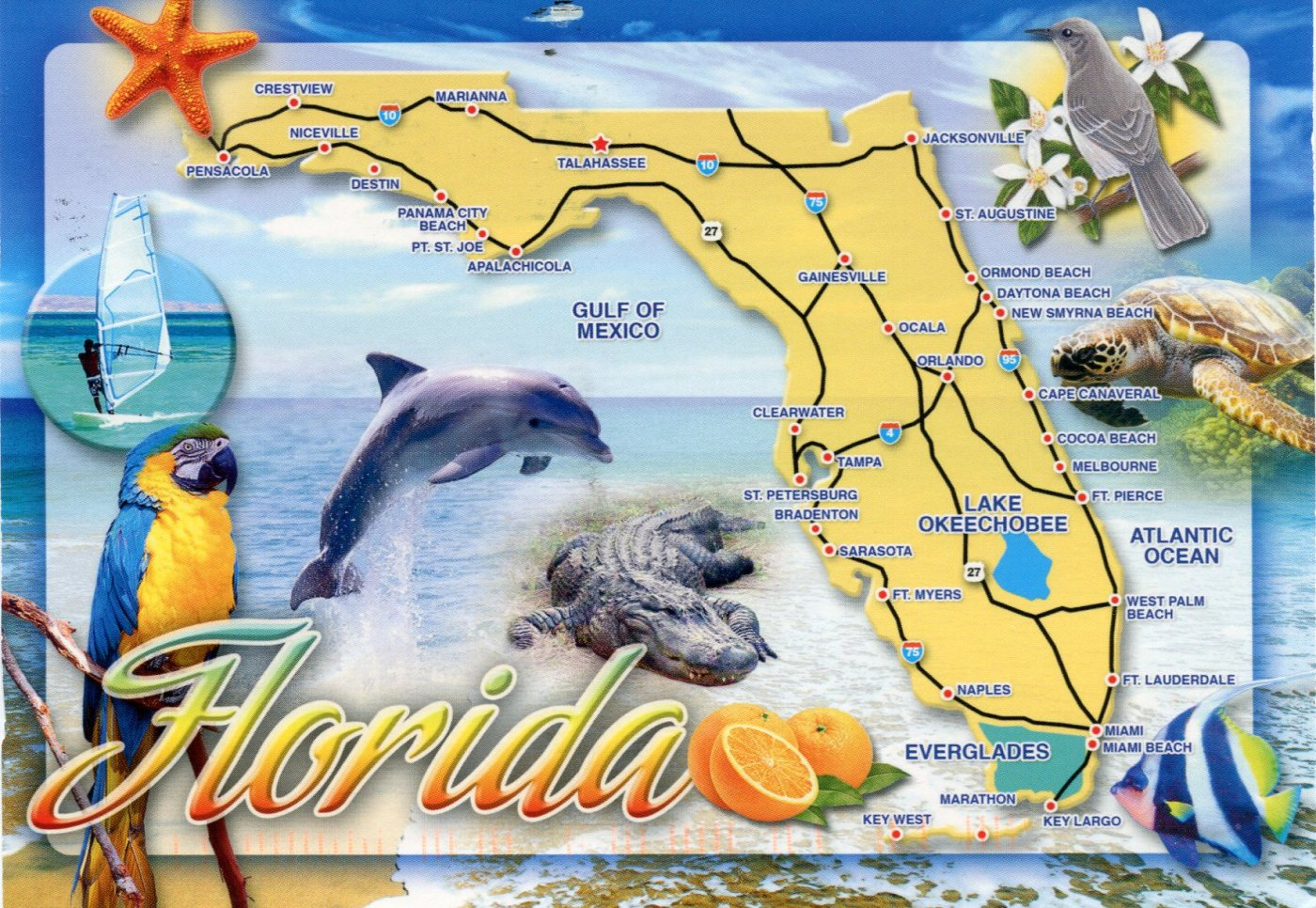 USA Places And Geographic Features Map Maps For The Classroom USA - Florida map key west