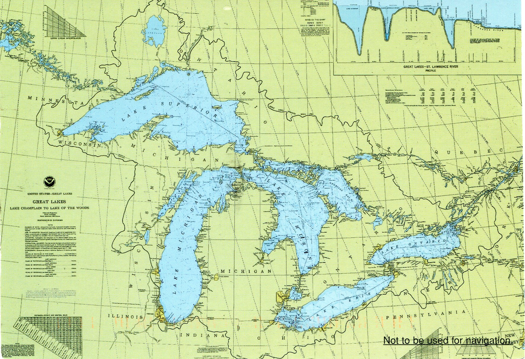 Great Lakes Map Remembering Letters And Postcards - St lawrence river on us map