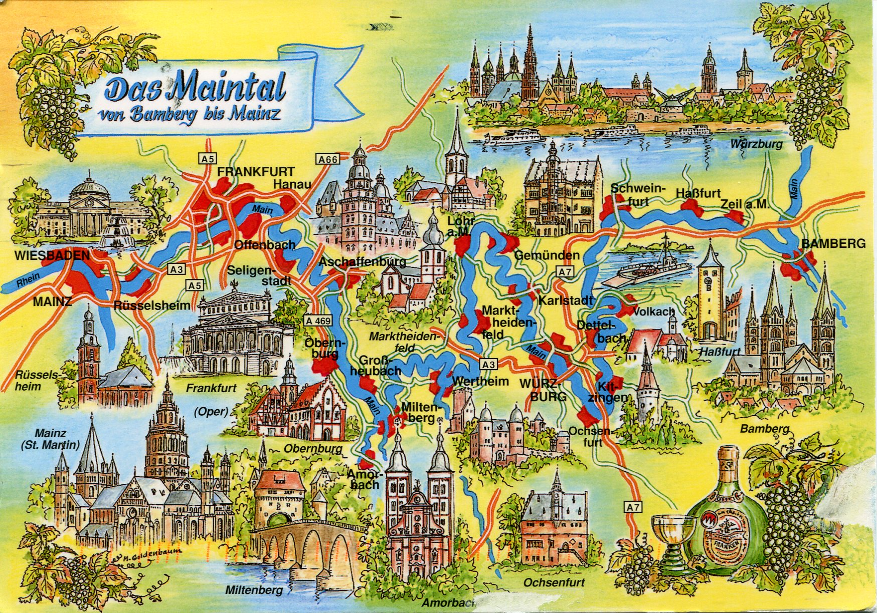 Map Of Maintal Germany Remembering Letters And Postcards - Germany map mainz