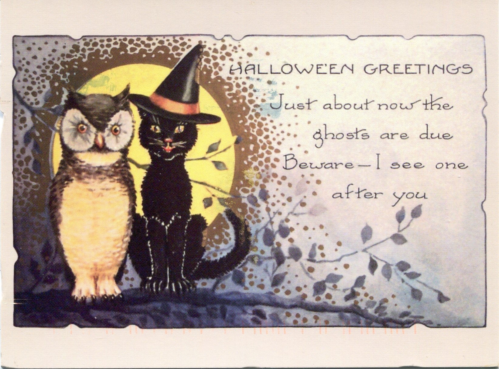 happy halloween! | remembering letters and postcards