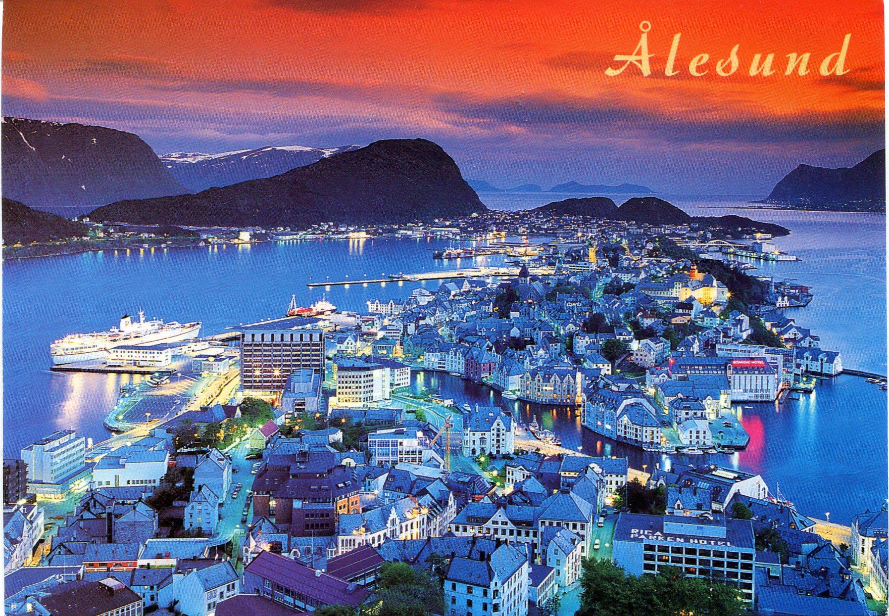 Alesund Norway Remembering Letters And Postcards - Norway map alesund