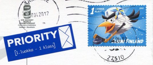 Finland - Hockey Bird stamps