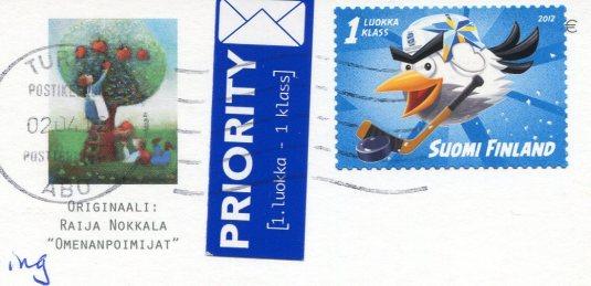 Finland - Nokkala - Omenanpoimijat stamps