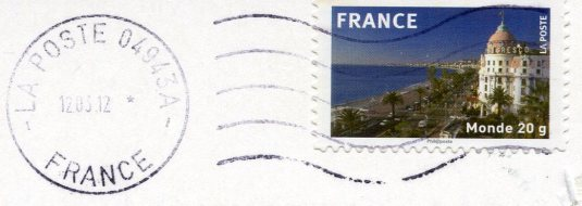 France - Lighthouse in the Evening stamps