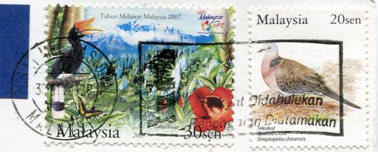 Malaysia - Wind Cave stamps