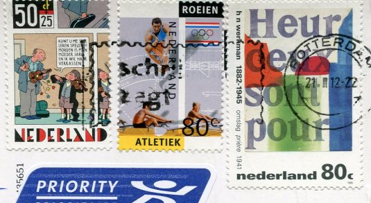 Netherlands - Noorderhoofd Lighthouse stamps