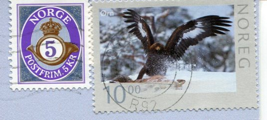 Norway - Kitten and Dog stamps