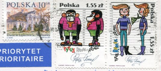 Russia - Lighthouse Aniva stamps Poland
