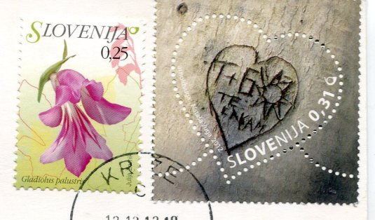 Slovenia - Blend Island Swans stamps