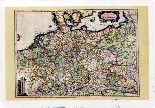 Germany - Antique Map Card