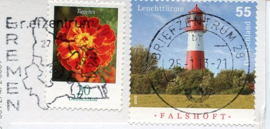 Germany - Cuxhaven Map stamps