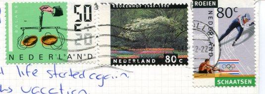 Netherlands - Camel Caravan stamps