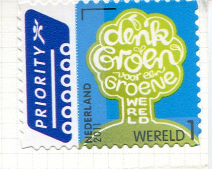 Netherlands - Girl and Calf stamps