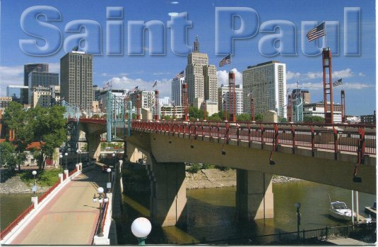 USA - Minnesota - Saint Paul skyline