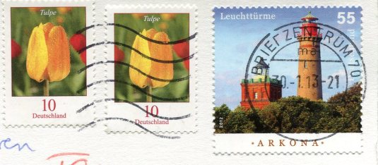 Germany - Hitchcock Birds stamps