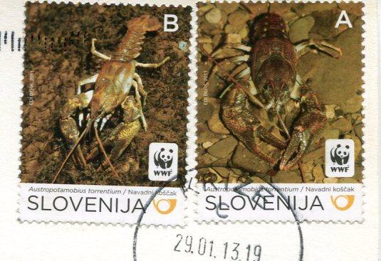Slovenia - Soteska Vintgar stamps