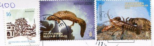 Macedonia - The Stone Bridge, Skopje stamps