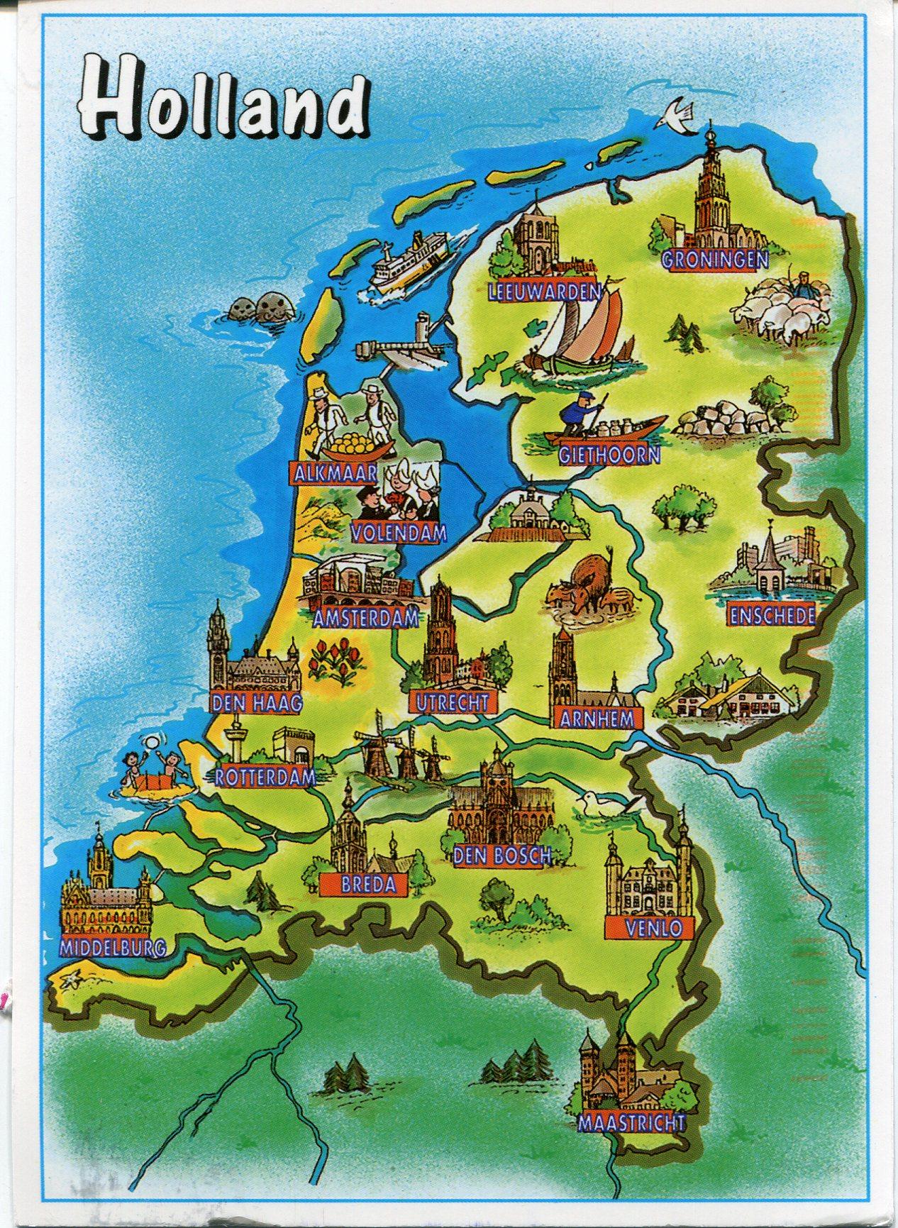 Holland Map - Netherlands Holland Map