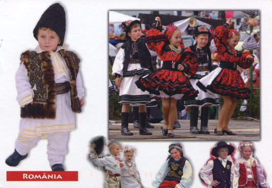 Romania - Children in Folk Costume