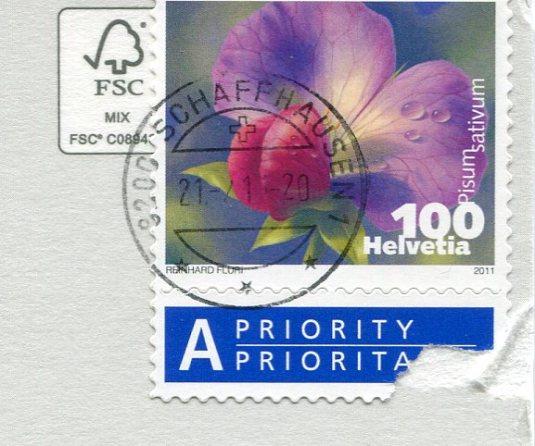 Switzerland - Rheinuferstrasse stamps