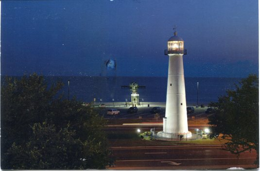 USA - Mississippi - Biloxi Lighthouse Night