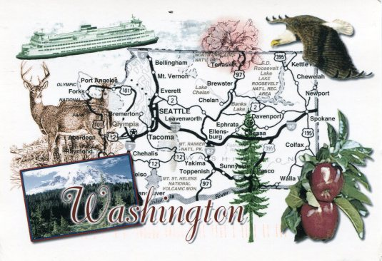 USA - Washington - Map
