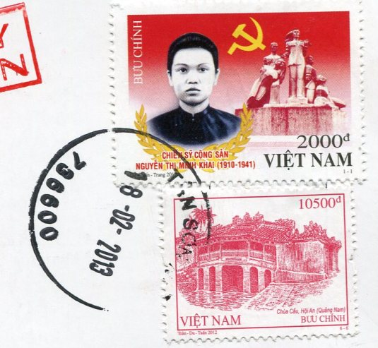 Vietnam - Duong Dong Market stamps