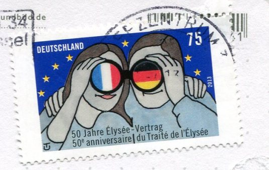 Germany - Nun on gocart stamps