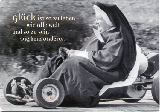 Germany - Nun on gocart