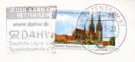 Germany - Sheep in a Barn stamp