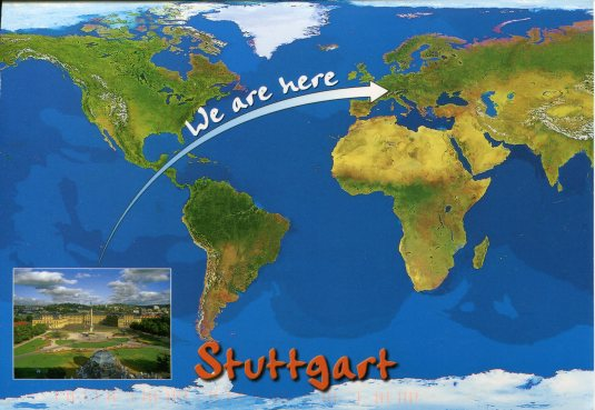 Germany - We are here map