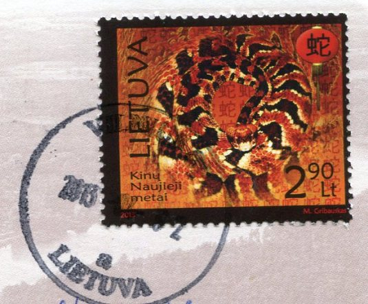 Lithuania - Map stamps